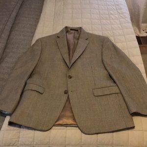 Ralph Lauren blazer/sport coat tan/blue windowpane